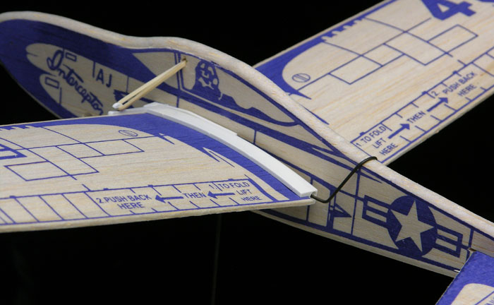 Folding wing Interceptor II now has the straddle wire for wing angle adjustment