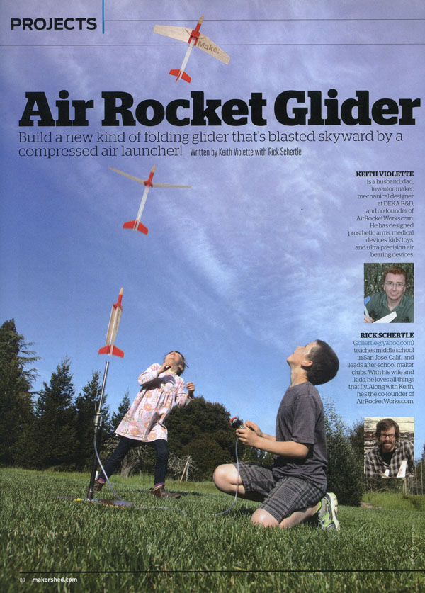 Air Rocket article in MAKE magazine