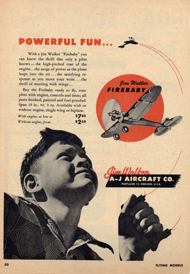 American Junior Firebaby Ad from Flying Models Magazine