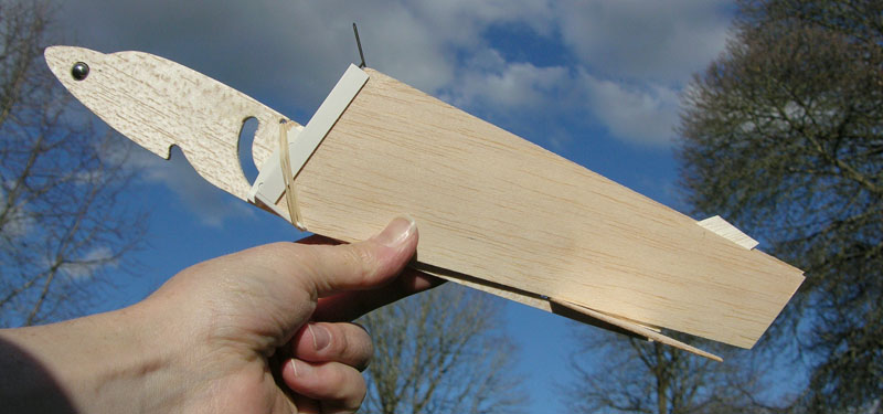 Folding Wing Jet by American Junior Classics, a catapult launch balsa glider