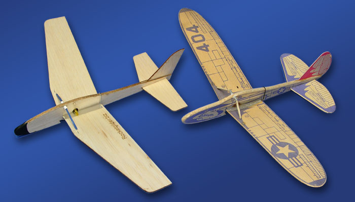 Rocket Glider and 404 Interceptor comparison of two folding wing planes