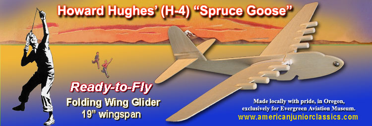 Folding Wing Spruce Goose prototype balsa model plane - ready to fly