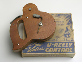 Wood U-Reely and original box, early 1940's