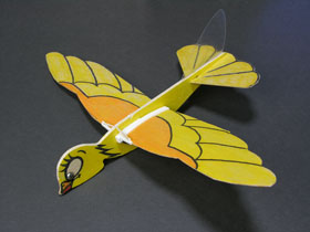 Folding wing model plane - Yellowbird