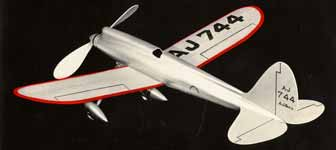 American Junior Model 744 Rubber Powered Glider by Jim Walker - This model plane was the inspiration for the A-J Fireball