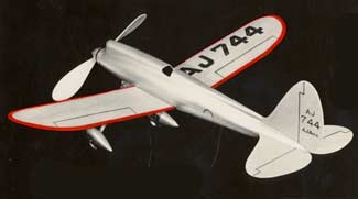 The American Junior A-J 744 was the inspiration for the original Fireball U-Control model by Jim Walker