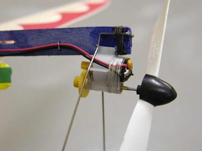 Electric motor on radio control Hornet