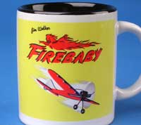 Firebaby mug is an example of the items available in the A-J store