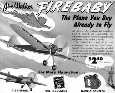 Jim Walker Firebaby advertisement from American Junior Aircraft