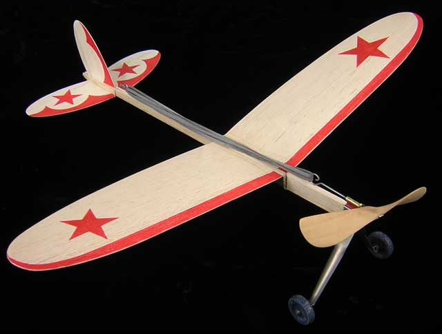 Jim Walker Pursuit from 1932 an American Junior balsa model that was Ready To Fly