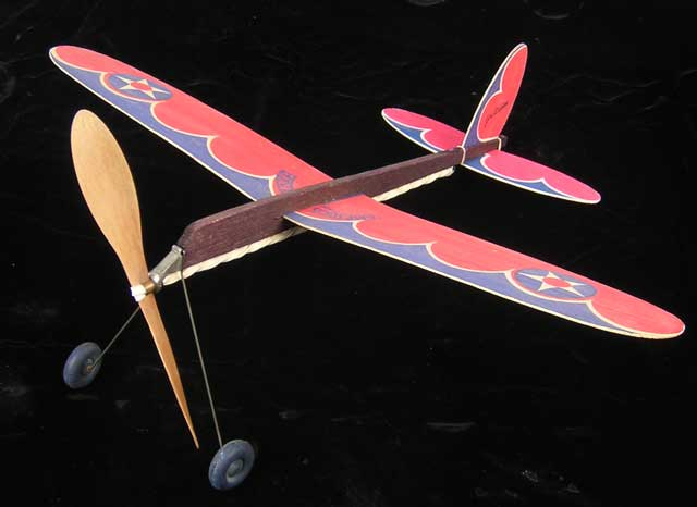 Jim Walker Pursuit from 1937 another American Junior balsa model airplane that was Ready To Fly