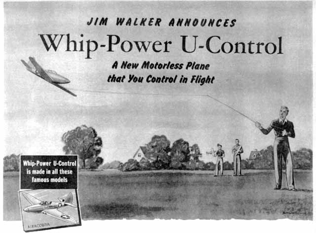 Whip-Power U-Control advertisement from 1943