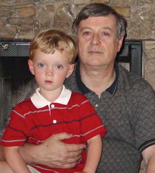 Barry and grandson that he is trying to interest in model airplanes - if only Jim Walker were still here