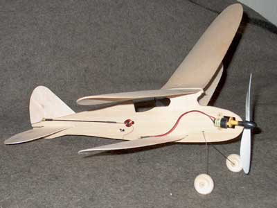 Fireball electric biplane is equiped with radio control