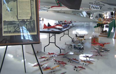 Various American Junior models on display