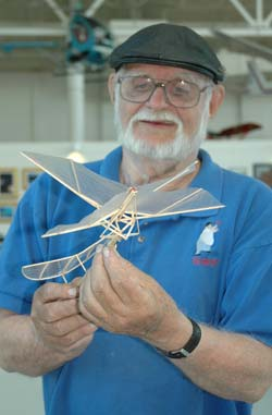 Gil Coughlin flies his ornithopters at the Jim Walker 101 birthday event