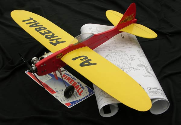 Plan set for the Jim Walker Fierball U-Control control line plane