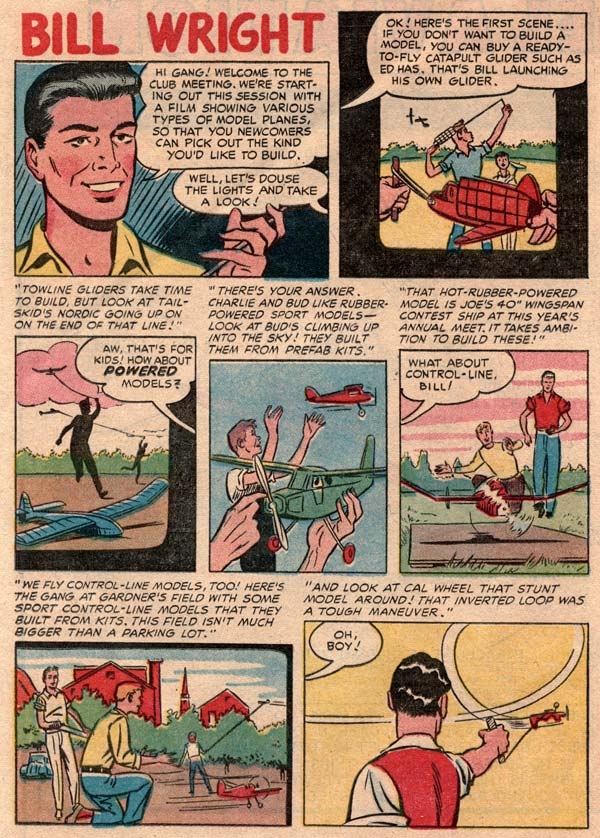 Flying Models comic book from 1954 page 8