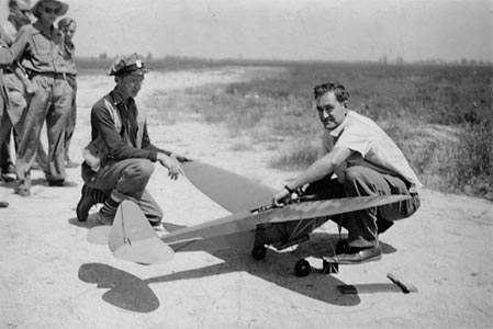 Jim Walker at the Nationals in 1941 with the R/C Winner