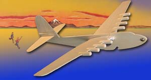 Folding wing glider of the Spruce Goose